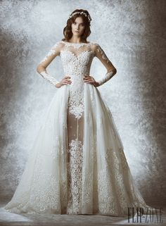 Zuhair Murad Fall-winter 2015 - Bridal - http://www.flip-zone.com/fashion/bridal/the-bride/zuhair-murad-5237