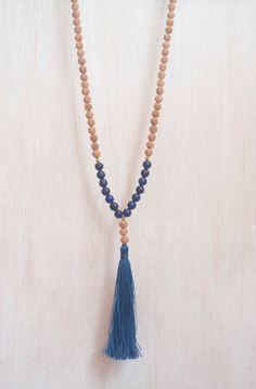 Inner Truth Mala ~ Lapis Lazuli 108 Mala Beads ~ Third Eye Chakra Necklace ~ Yoga Meditation ~ Bohemian Rudraksha Prayer Tassel Necklace by BohemianTreasureSHOP on Etsy https://www.etsy.com/listing/247110530/inner-truth-mala-lapis-lazuli-108-mala