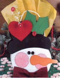 Moldes Para Artesanato em Tecido: Enfeites de Natal com Moldes
