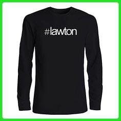 Idakoos - Hashtag Lawton - US Cities - Long Sleeve T-Shirt - Cities countries flags shirts (*Amazon Partner-Link)