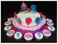 owl and bird cake