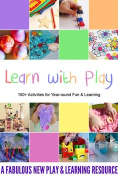 I am so excited to finally announce a book I co-authored titled Learn with Play: Activities for Year-round Fun & Learning. Activities cover literacy, math, science, fine motor skills, crafts and so much more! Play Based Learning, Learning Through Play, Kids Learning, Learning Shapes, Learning Numbers, Learning Letters, Early Learning, Motor Activities, Infant Activities