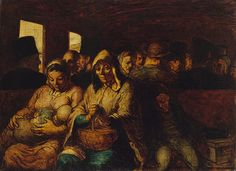 "Daumier - ""Third Class Carriage"" 1862"