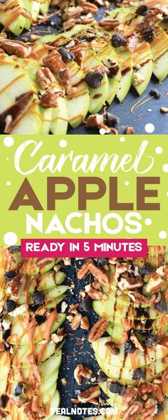 Apple Nachos: A Healthy Snack Idea That's Ready In 5 Minutes Apple nachos, caramel apple slices, how to keep apples from browning Snacks For Work, Healthy Work Snacks, Clean Eating Snacks, Healthy Desserts, Healthy Appetizers, Easy Desserts, Healthy Eating, Appetizers For Party, Appetizer Recipes