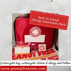 Allergy Alert Pack: Customize by writing in allergy, emergency contact info, etc. Packs include: Customizable Bag, Customizable Stickers, & Temporary Tattoos.