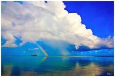 Rainbow over Managaha, Saipan  http://www.lesliewarephotography.com