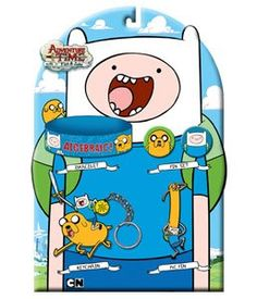 Adventure Time with Finn Jake Accessory Set. I bought this product for a friend's birthday, and she loves it! All of the products are fun, bright, and durable. It arrived promptly and safely.