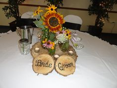 My DIY centerpieces ... our sweetheart table