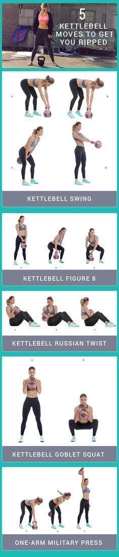 Kettlebell Workouts You Need To Try. - #thatmomlife https://www.kettlebellmaniac.com/kettlebell-exercises/