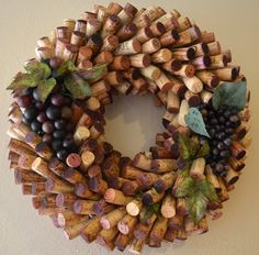 Red Wine Cork Wreath by WildflowerWhiskey on Etsy