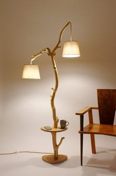 38 The Natural Touch Decoration of Tree Branch Lights Tree Branch Decor, Tree Branches, Living Room Carpet, Living Room Decor, Handmade Home Decor, Diy Home Decor, Lamp Shade Crafts, Woodworking Items That Sell, Deco Studio