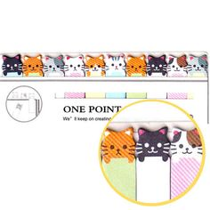 A packet of adorable kitty cat shaped post it tabs! You get a set of 10 different designs and the kitty cats look so cute poking out from the