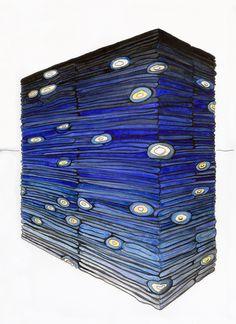 Night Sky, 2010  Size: 15″ x 11.25″  Materials: 200lb. white paper, pencil & watercolor  © Derick Melander, 2012