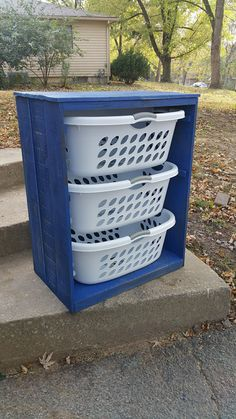Hey, I found this really awesome Etsy listing at https://www.etsy.com/listing/488851975/laundry-basket-holder-rustic-sapphire