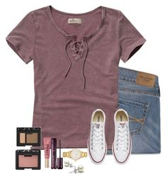A fashion look from December 2016 featuring blue jeans, canvas shoes and watch bracelet. Browse and shop related looks. Simple Outfits, Trendy Outfits, Cute Outfits, School Fashion, Teen Fashion, Fashion Outfits, Fall Winter Outfits, Spring Outfits, Abercrombie And Fitch Outfit