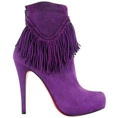 Purple boots! #ebayfashion #louboutin