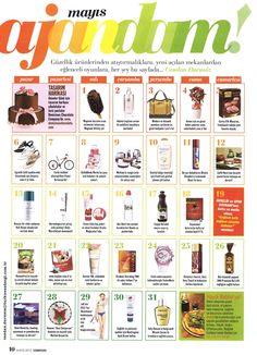CosmoGirl Dergisi, Ajandam 01.05.2012