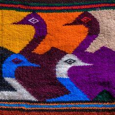 Otavalo Ecuadorian Tapestry Weaving with Birds