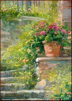 Landscape Artwork, Watercolor Landscape, Watercolor Paintings, Watercolors, Gravure Illustration, Cottage Art, Russian Painting, Beautiful Paintings, Unique Art