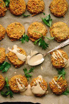 vegan & gluten-free pumpkin lentil falafel #vegan