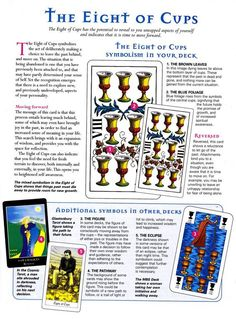 Mind, Body, Spirit Collection - The Eight Of Cups