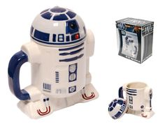 Star Wars R2-D2 3D Mug Lid Gift Boxed Coffee Tea Cup R2 D2 Sci-fi Novelty Mugs R2-D2 is no mug Except of course when he is a 3D Mug ONLY £18.99