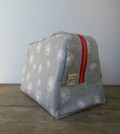 Hey, I found this really awesome Etsy listing at https://www.etsy.com/listing/175468152/large-gray-dandelion-twill-toiletry-bag