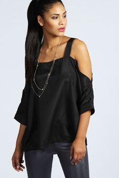 Alice Cut Out Strappy Woven Top at boohoo.com