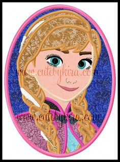 Cold Princess Cameo Applique Machine Embroidery Design (DIGITAL ITEM) on Etsy, $5.00