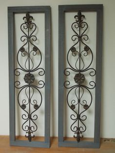 WALL ART SHUTTERS   Set of 2 incl in price . by DesignersShowcase