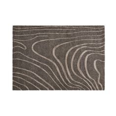"Citak Area Rugs Caledon Collection // Grain // Dark Grey (5'3"" x 7'7"")"