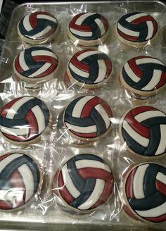 1 dozen Volleyball sugar cookies by SweetTreatCookies on Etsy  $32 dozen