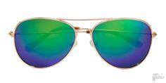 Óculos De Sol Aviador Grande Com Lente Espelhada Em Metal || Ui! Gafas