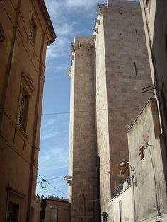 Cagliari. Castello district. The Elephant tower, Sardinia - Sardegna, Italy