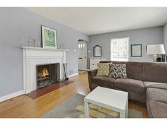 Popular paint color from a listing...Sherwin Williams, Network Gray.