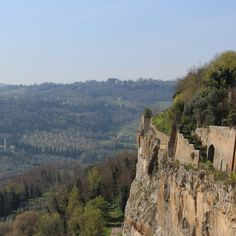 Visit Umbria: one day in Orvieto. Amazing view on ancient walls of Orvieto.