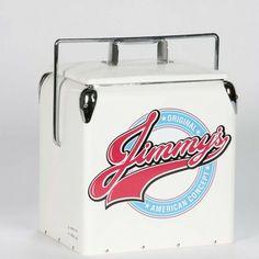 bilde av Jimmys Metal Retro Cooler Hvid Kjølebag 13 l