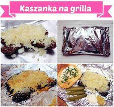 Kaszanka na grilla/piekarnika - CoOnaKombinuje.pl Bbq Grill, Grilling, Spanakopita, Camembert Cheese, Muffin, Breakfast, Ethnic Recipes, Food, Impreza