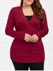 SHARE & Get it FREE | Plus Size Ruched Fitted TeeFor Fashion Lovers only:80,000+ Items • New Arrivals Daily • Affordable Casual to Chic for Every Occasion Join Sammydress: Get YOUR $50 NOW!