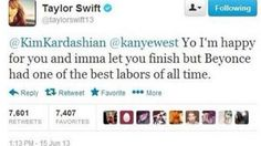 We Can Only Wish Taylor Swift Tweeted This to Kim Kardashian & Kanye West About Their New Baby Girl