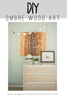 Do you want to try out ombre? This tutorial will show you how! Create an ombre wood stencil art for your bedroom in a few steps!