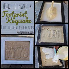 DIY Baby Foot Print | DIY sand Plaster Footprints | Baby
