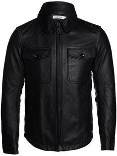 Nonnative Black Leather Rancher Blouson Jacket   UpscaleHype