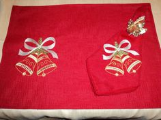 Christmas Bells Placemats by ETCchest on Etsy, $25.00