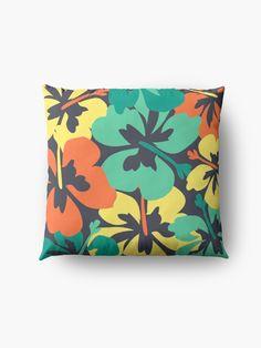 """""""Flower Print, Flower Pattern"""" Floor Pillow by MsD7   Redbubble Floor Pillows, Throw Pillows, Cotton Tote Bags, Flower Prints, Flower Patterns, Pillow Covers, Artist, Flowers, Toss Pillows"""
