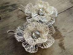 Resultat d'imatges de gioielli uncinetto filo argento