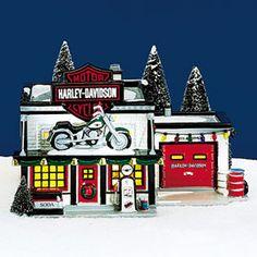 Dept 56 Snow Village - Harley Davidson ROAD HOUSE CAFE #4025316 ...