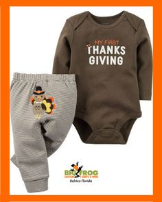 88e766179 1st Thanksgiving onesie, you can this and much more at #BigFrog of #Valrico