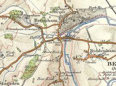Ordnance Survey Map of Bromham, 1908.
