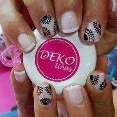 Resultado de imagen para deko's uñas Desserts, Nail Art, Pedicures, Short Nails, Nail Designs, Fingernail Designs, Mandalas, Tailgate Desserts, Deserts